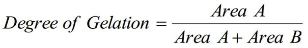 فرمول محاسبه درجه ژل